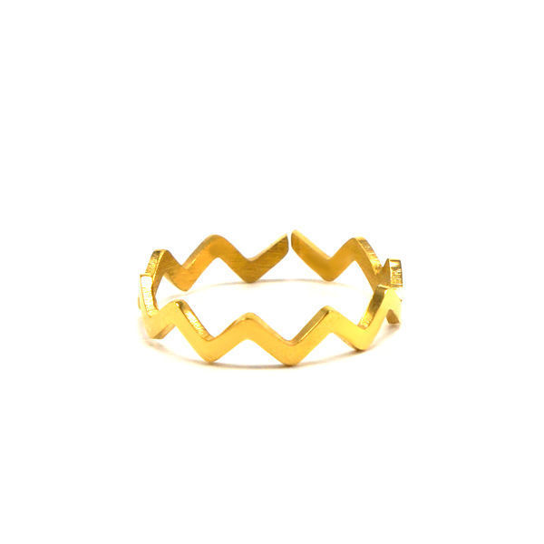 Picture of Geometric Wave Stainless Steel  Ring