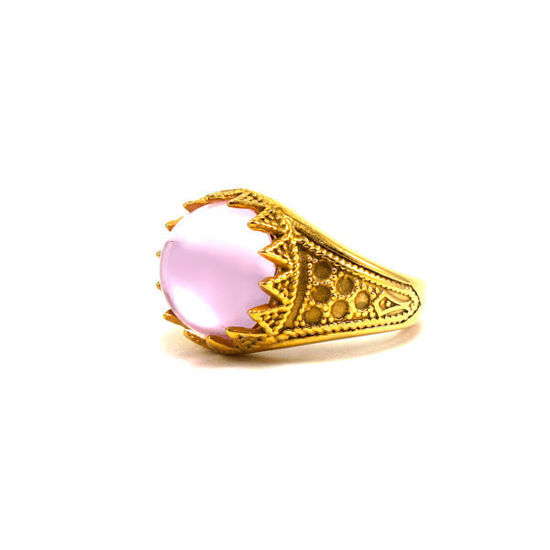 Picture of Crystal Rose Ring Stainless Steel Gold Plating