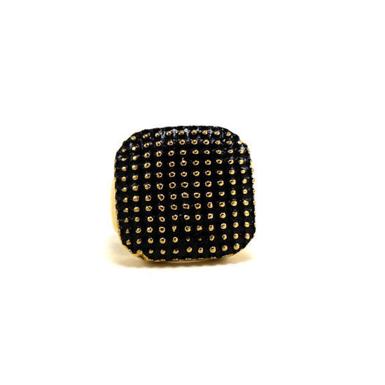 Picture of Women Black Enamel Ring Stainless Steel