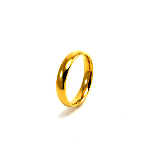 Picture of Wedding Band Stainless Steel Unisex Gold Plating