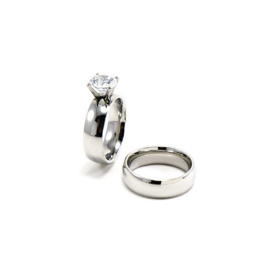 Picture of Women Wedding Engagement Ring Steel