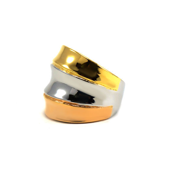 Picture of Three Gold Ring Plating Stainless Steel