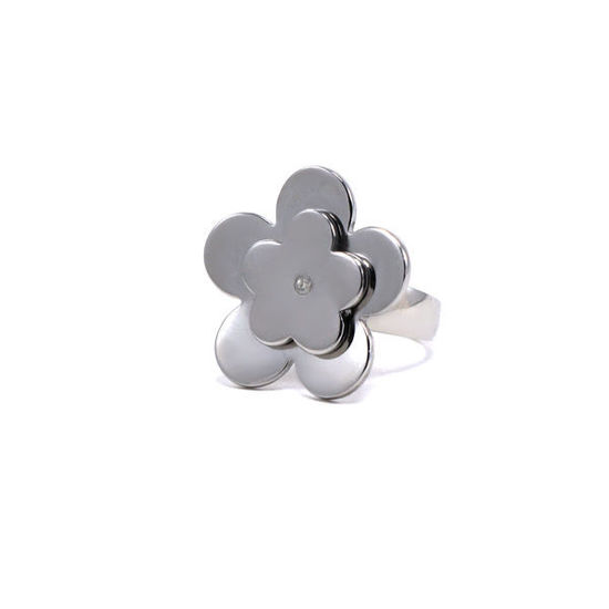 Picture of Flower Ring Stainless Steel Silver