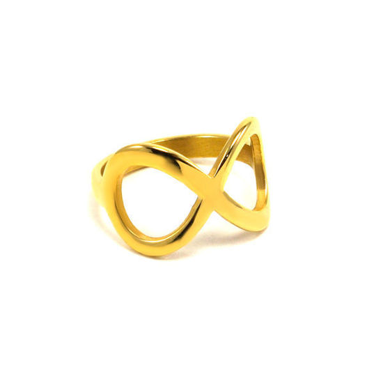 Picture of Stainless Steel Gold Plating Infinity Ring