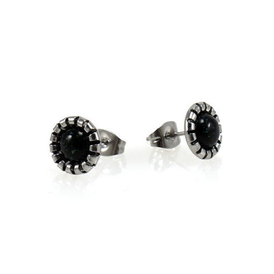 Picture of Stud Pearl Earrings Stainless Silver