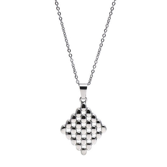 Picture of Rhombus Geometric Pattern Pendant Necklace