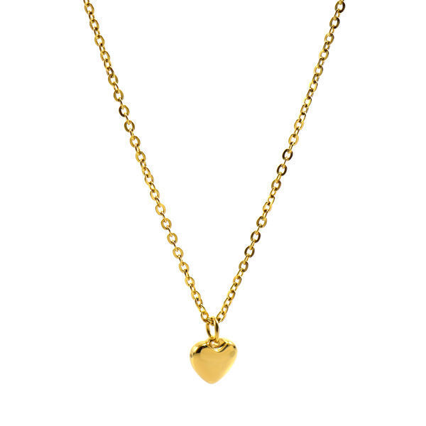 Picture of ANFLO Heart Necklace Stainless Steel  Gold Plating