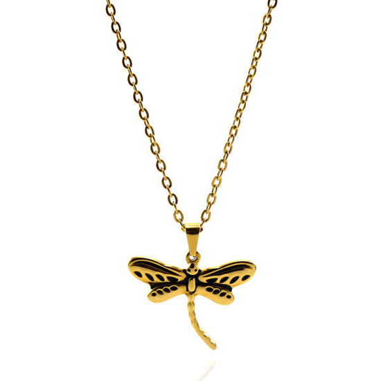Picture of Dragonfly Necklace Stainless Steel Gold Plating