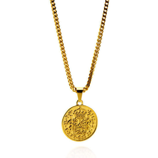 Picture of Gold Coin Necklace Stainless Steel