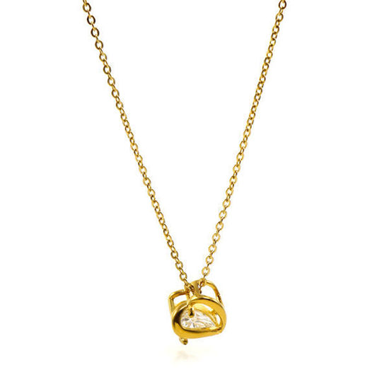 Picture of Heart Necklace Stainless Steel  Gold Plating