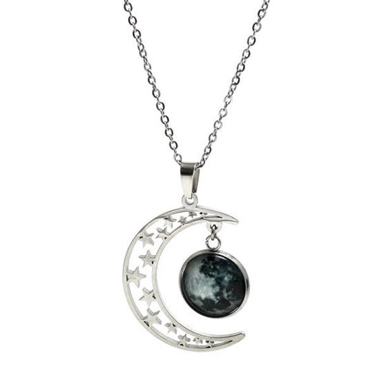 Picture of Moon Pendant Necklace Stainless Steel
