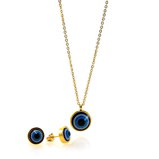 Picture of Evil Eye Set Necklace Stainless Steel Enamel