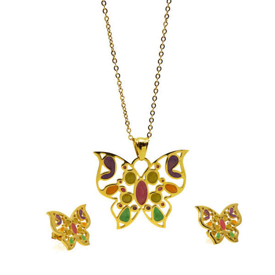 Picture of Woman Jewelry Set Stainless Steel Enamel
