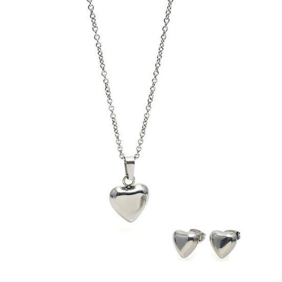 Picture of Heart Necklace Set Stainless Steel