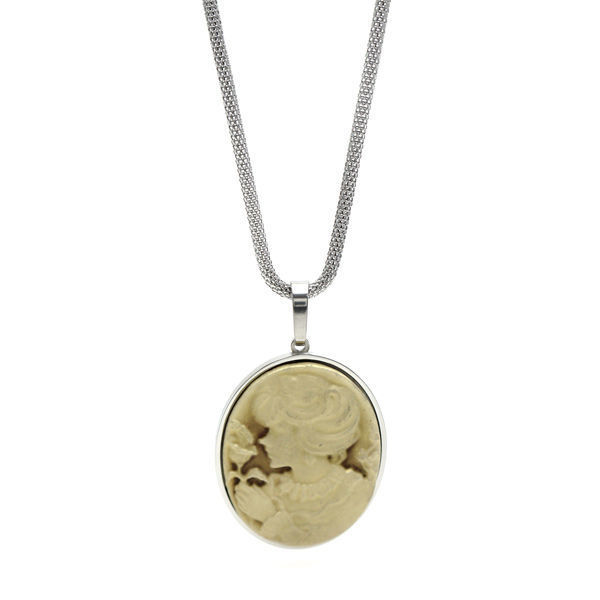 Picture of Cameo Victorian Pendant Necklace Stainless Steel