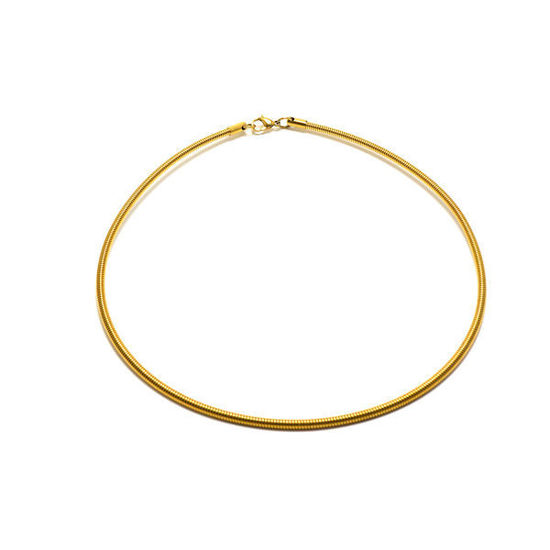 Picture of Women Choker Necklace Stainless Steel Gold Plated