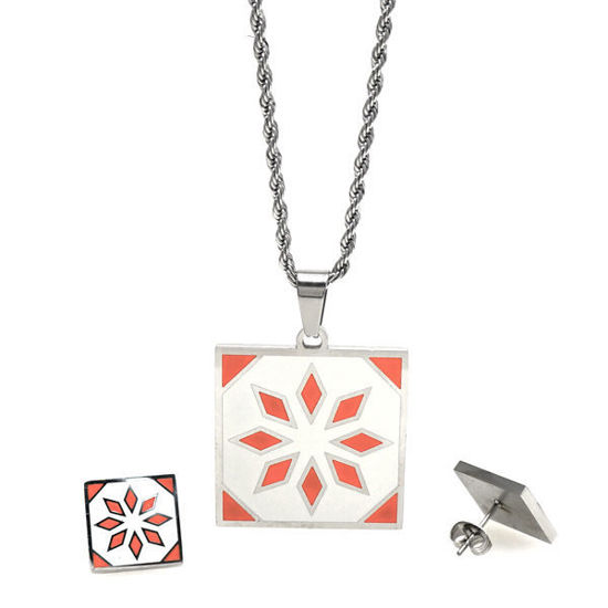 Picture of Flower Necklace Stainless Steel