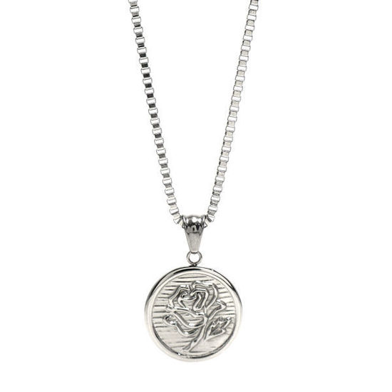 Picture of Rose Coin Necklace Stainless Steel