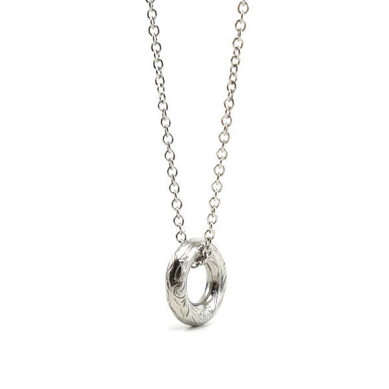 Picture of Elegant Circular Stainless Steel Pendant and Necklace