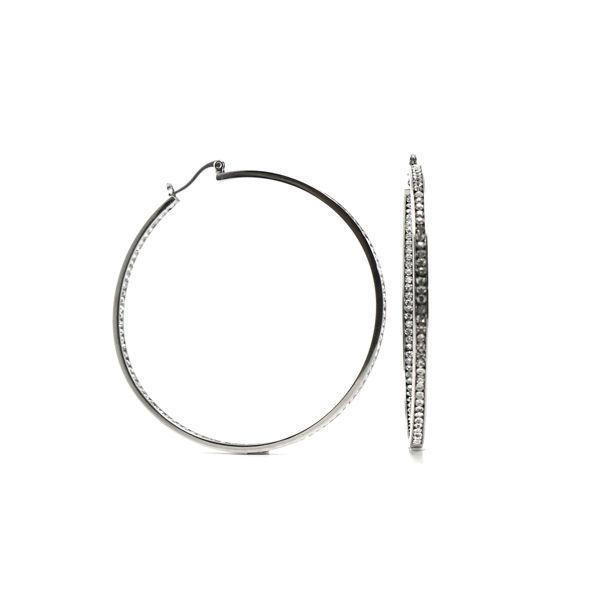 Picture of Crystal Hoop Earrings Stainless Steel