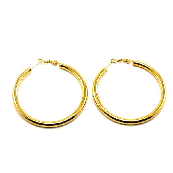 Picture of Hoop Earrings Gold Stainless Steel