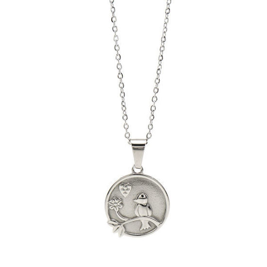 Picture of Coin Bird Necklace Stainless Steel