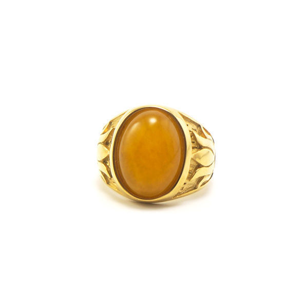 Picture of Yellow Stone Ring Stainless Steel