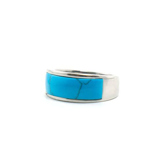 Picture of Stone Ring Stainless Steel High Polished