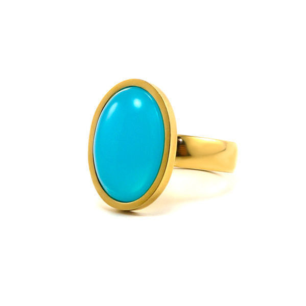 Picture of Stone Ring Stainless Steel Gold Plating
